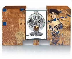 Die neue Atmos Marqueterie stellt eine Hommage an das Erbe Gustav Klimts dar. Sie kostet 140 000 Euro und ist auf zehn Modelle limitiert
