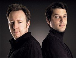Die Herren von Urwerk: Designer Martin Frei (links) und Uhrmacher Felix Baumgartner