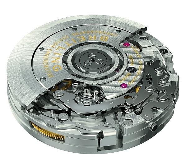 Bei der Steuerung des Chronographen hat sich Breitling für ein Schaltrad entschieden