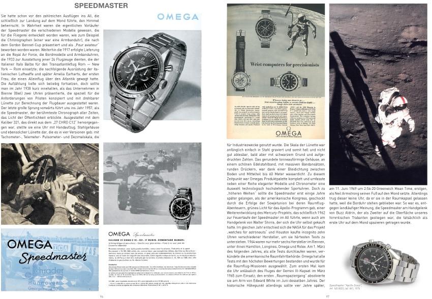 John Goldberger, Omega Sportuhren, Seiten 96-97