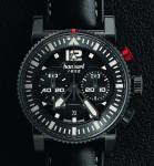 Ganz in Schwarz: Der Pilot's Chronograph ist eines von drei Modellen der neuen Primus-Kollektion