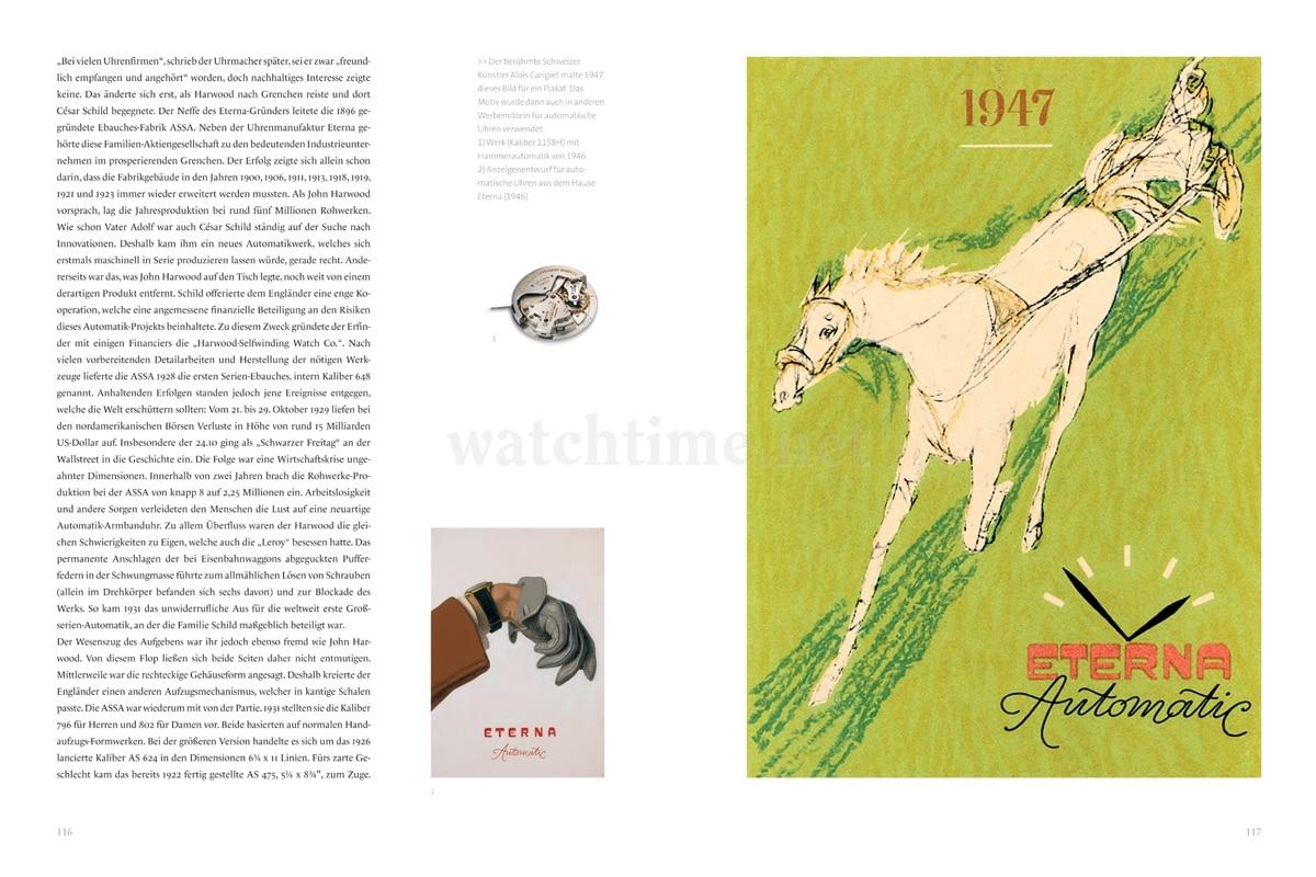 Brunner/Pfeiffer-Belli, Eterna – Pioniere der Uhrmacherkunst, Seiten 116-117