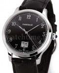 Email-Zifferblätter mit Strahlenguilloche sind charakteristisch für Uhren von Fabergé