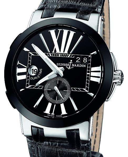 In leicht extravagnater Schwarzweiß-Optik schickt Ulysse Nardin Uhrenliebhaber auf die Reise