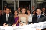 David Lisnard (Fremdenverkehrsverein Cannes), Elisabeth Quin, Diane Kruger, Martine Julian (Direktorin der neuen Boutique), Jerôme Lambert (CEO Jaeger-LeCoultre)