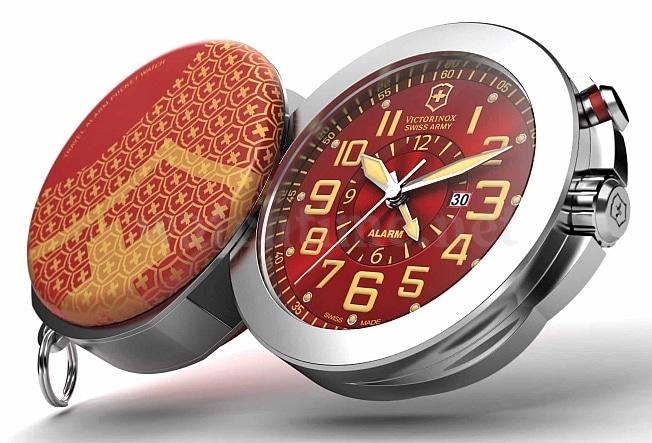 Weckruf in der Tasche: Die Jubiläums-Taschenuhr bietet auch eine Alarmfunktion