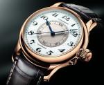 Die zentrale Zusatzskala ist drehbar und ermöglicht eine auf die Sekunde genaue Einstellung der Uhrzeit