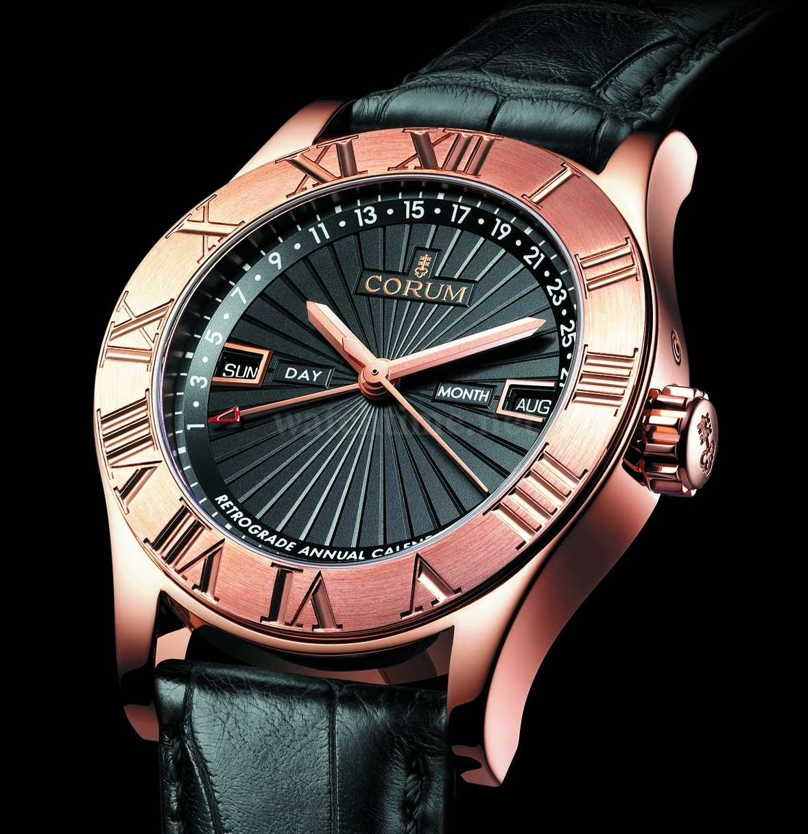 Corum: Romulus Retrograde Annual Calendar