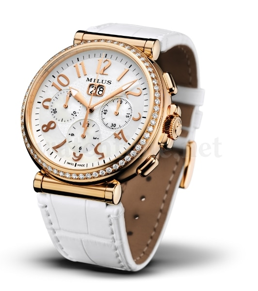 Milus Zetios Chronograph Joaillerie in Rotgold