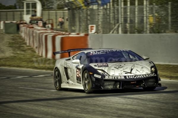 Mit der Startnummer 24: Marc A. Hayek und Peter Kox im Lamborghini Gallardo LP560-4