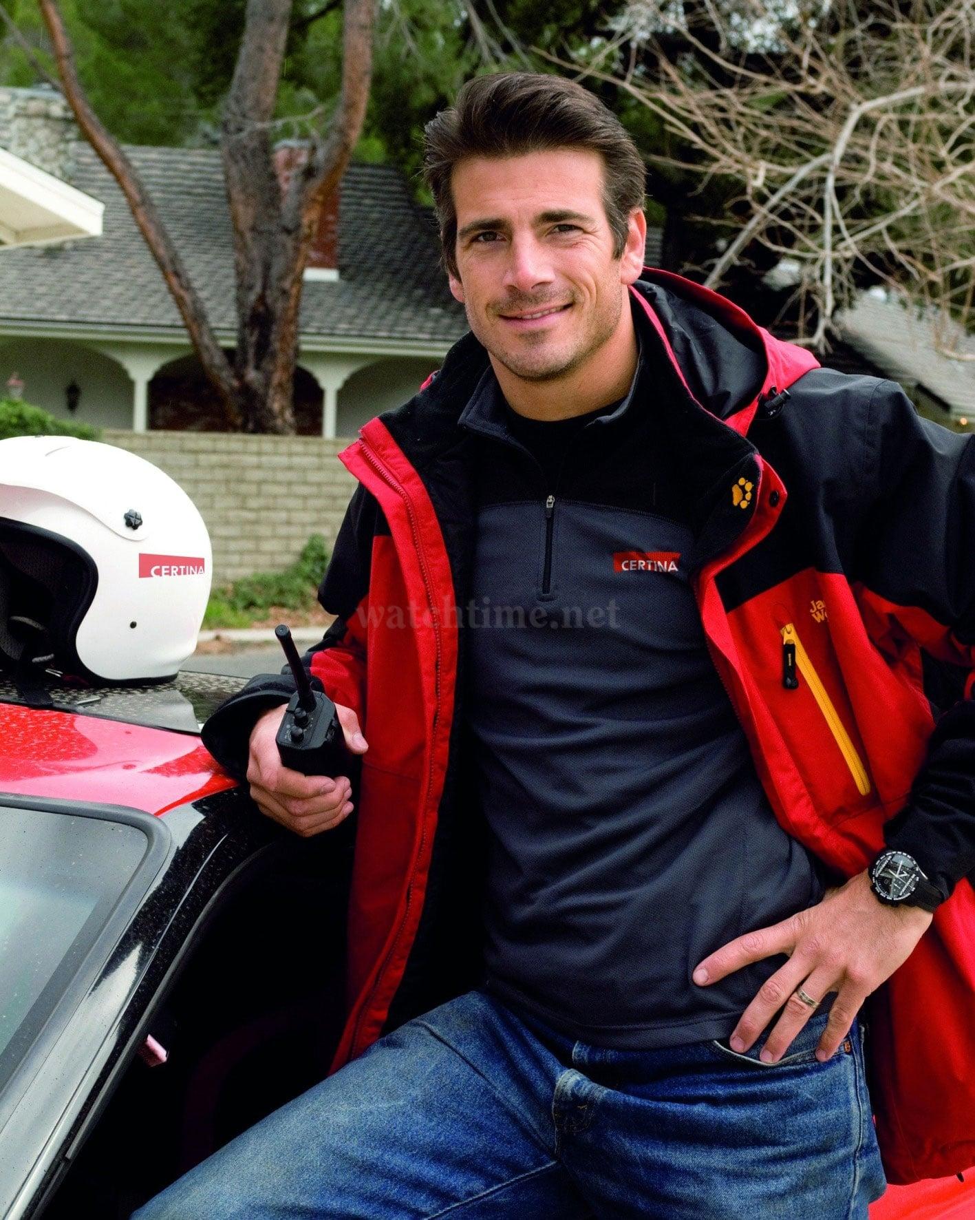 Stuntman Oliver Keller: Botschafter des Marke Certina