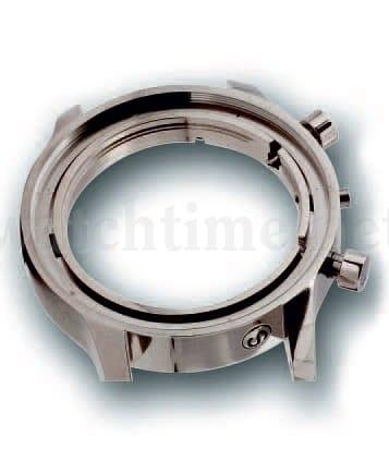 Drei Dämpferelemente an der Flanke des 42-Millimeter-Gehäuses sind für die Justierung des Uhrwerks wichtig