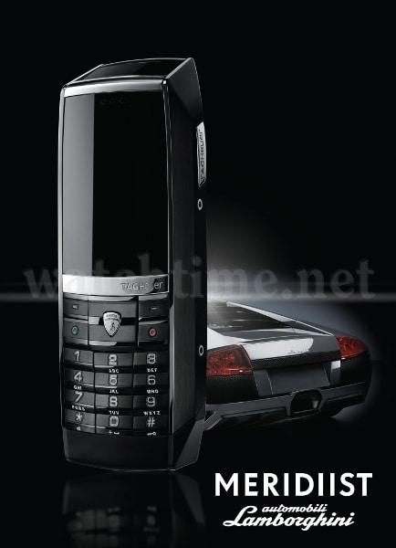 Rasant und schnittig: das TAG Heuer Meridiist Automobili Lamborghini Mobiltelefon
