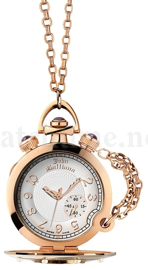 Schmückend mit Perlen und Diamanten: Taschenuhr von John Galliano für 10.300 Euro