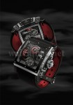 Schwarz und Rot, so zeigt sich die Black Pearl im Piraten-Look