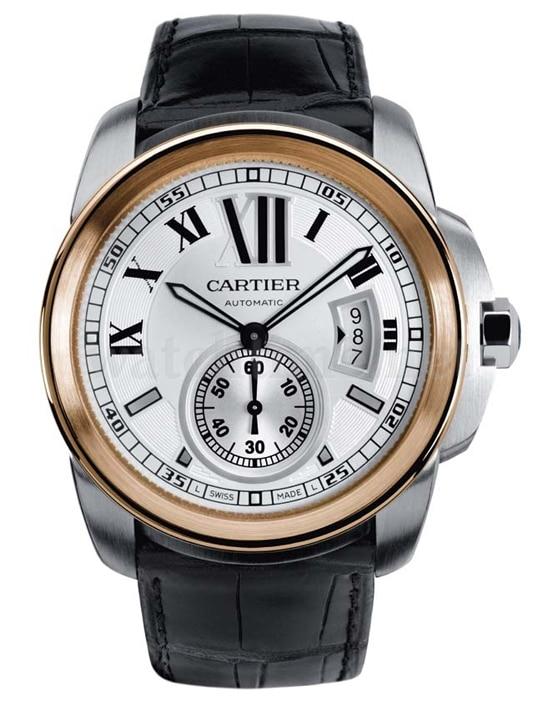 Calibre de Cartier: Rotgold und Edelstahl