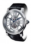 Rotonde de Cartier Fliegendes Tourbillon, skelettiert, Kaliber 9455 MC, Genfer Punze