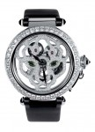 Pasha de Cartier 42 mm, skelettiert, mit Panther-Dekor