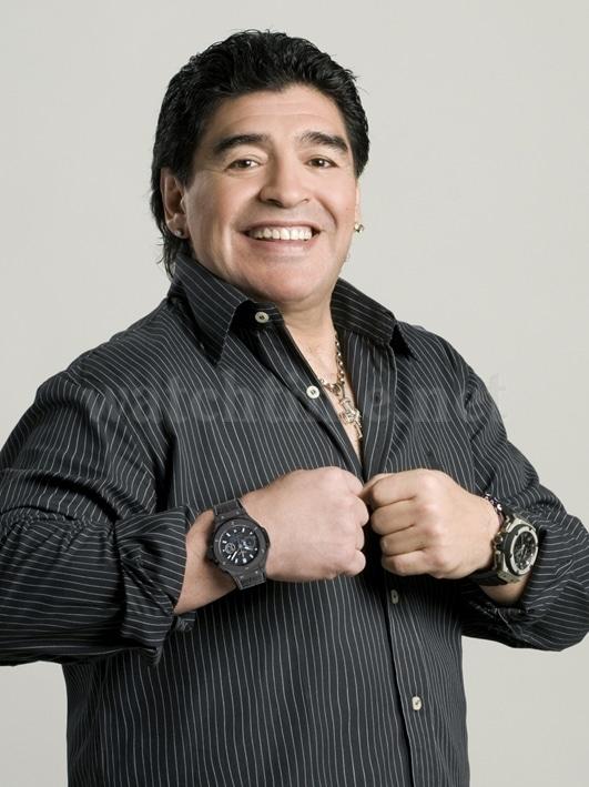 Ambassadeur von Hublot: der argentinische Nationaltrainer Diego Maradona