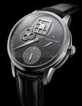 Als Zifferblatt dient die Platine des Uhrwerks: Masterpiece Régulateur Roue Carrée