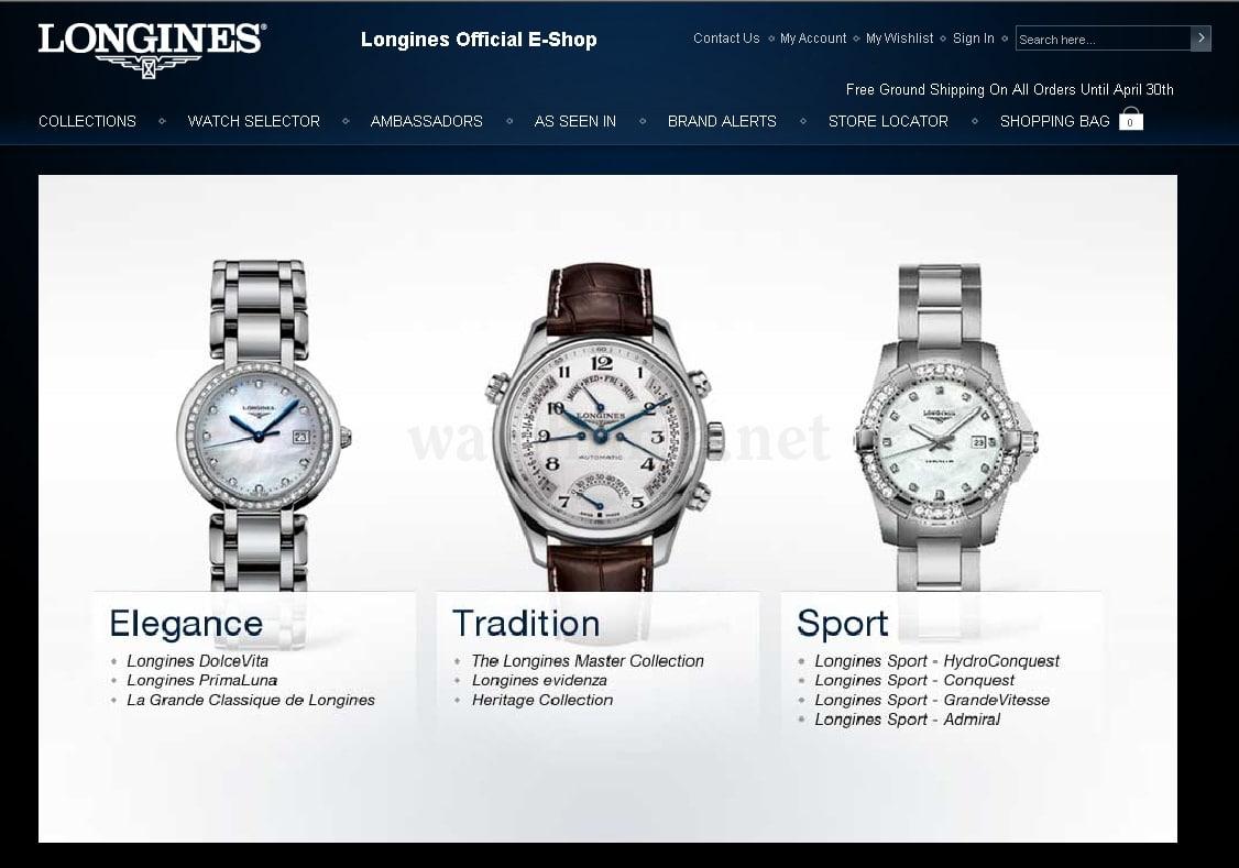 Uhren online  Online-Kauf von Uhren: US Online-Shop Longines | Watchtime.net