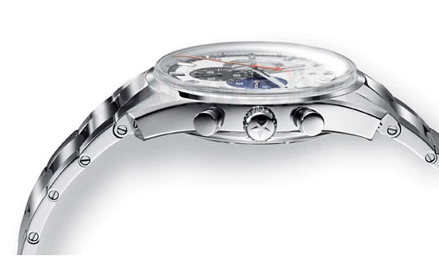 Das Uhrenarmband der El Primero von Zenith ist mit Schrauben gesichert.