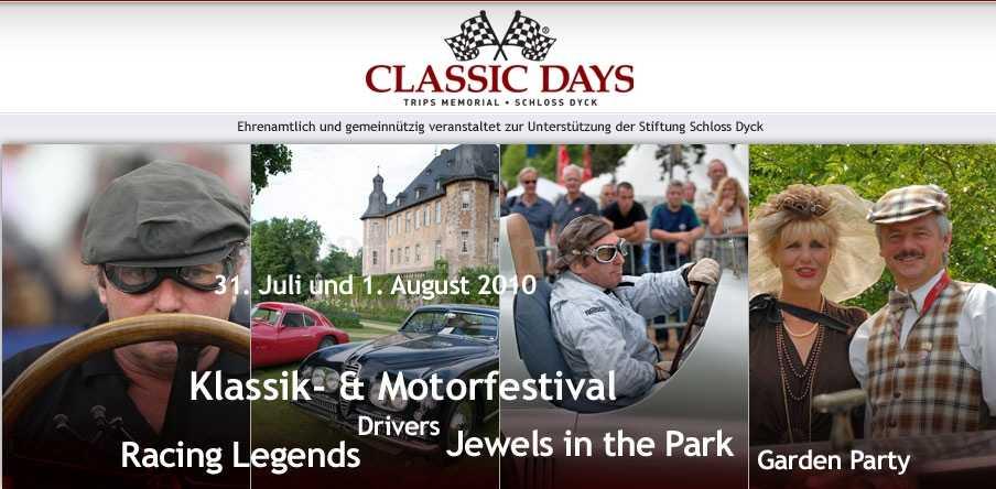 Die Uhrenmarke Elysee ist erneut Sponsor der Classic Days