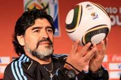 Zwei Töchter, zwei Hublots: Diego Maradona (Photo by Chris McGrath/Getty Images)