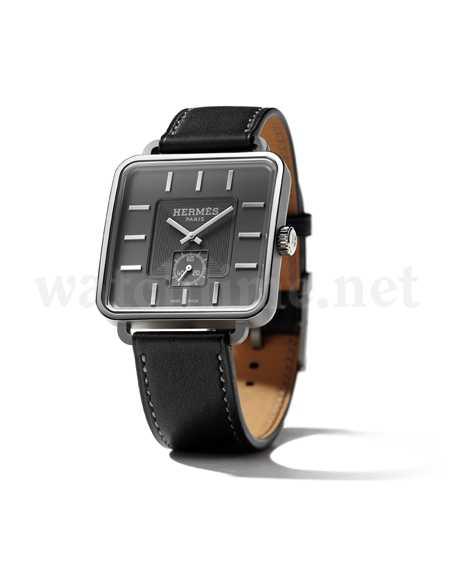 Ungewohnt sachlich: das Uhrenmodell Carré H von Hermès