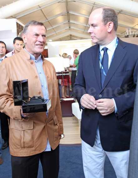 Neben Ulysse Nardin unterstütz auch Prinz Albert von Monaco die Monaco Yacht Show 2010
