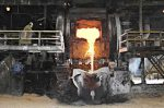 Impala Raffinerie in Südafrika, Schmelzungsprozess bei der Platinverarbeitung