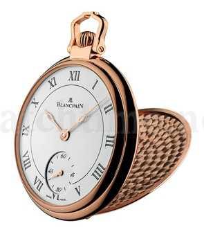 Klassisches Gesicht und Sprungdeckel: die Taschenuhr Montre de Poche Demi-Savonnette von Blancpain