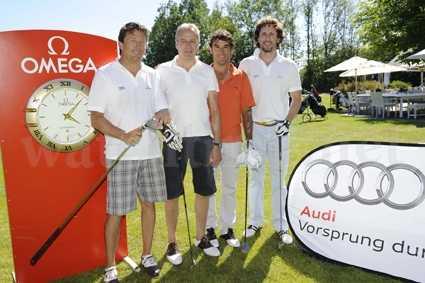 Iwan Schmihalter, Alexandre Calame, Karl-Heinz Riedle, Philippe Roten (v.l.n.r.)