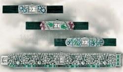 Schmuckuhren von Ebel, die 1925 auf der Ausstellung in Paris gezeigt wurden
