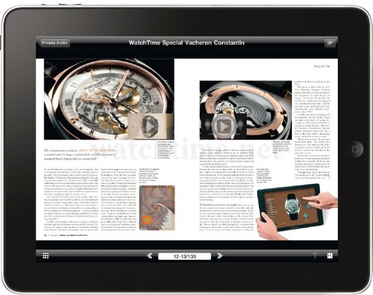 Vacheron Constantin iPad