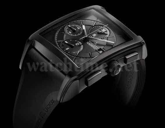 Die offizielle Uhr zur Expedition: die Pontos Chronographe Réctangulaire Full Black von Maurice Lacroix