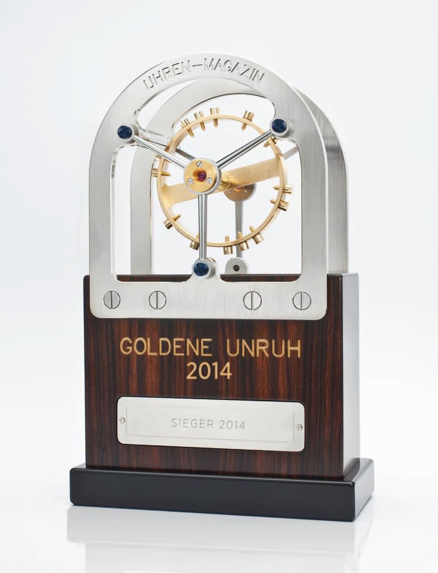 Goldene Unruh 2014: Siegertrophäe