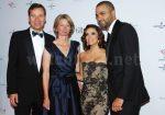 Aletta und Peter Stas, CEO von Frédérique Constant, mit Eva Longoria und Tony Parker
