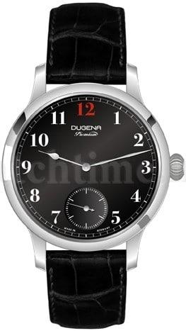 Die Dugena Premium Epsilon 1 mit schwarzem Lackzifferblatt