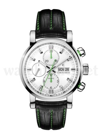 Den neuen Pacific Chronograph von Chronoswiss kostet 3.690 Euro.