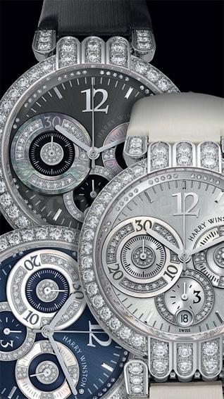 Drei Varianten in einer Kombination von Glanz und Sportlichkeit – die Lady-Chronograph-