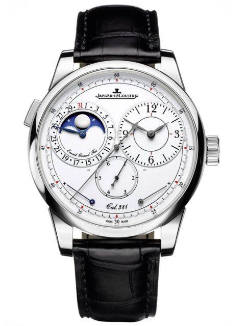Chronograph mit Seconde Foudroyante: Duomètre Quantième Lunaire von Jaeger-LeCoultre