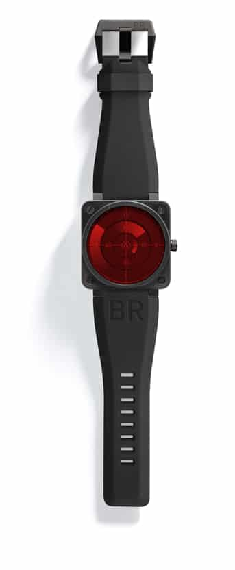 Alarmstufe Rot bei der BR 01 Red Radar von Bell & Ross
