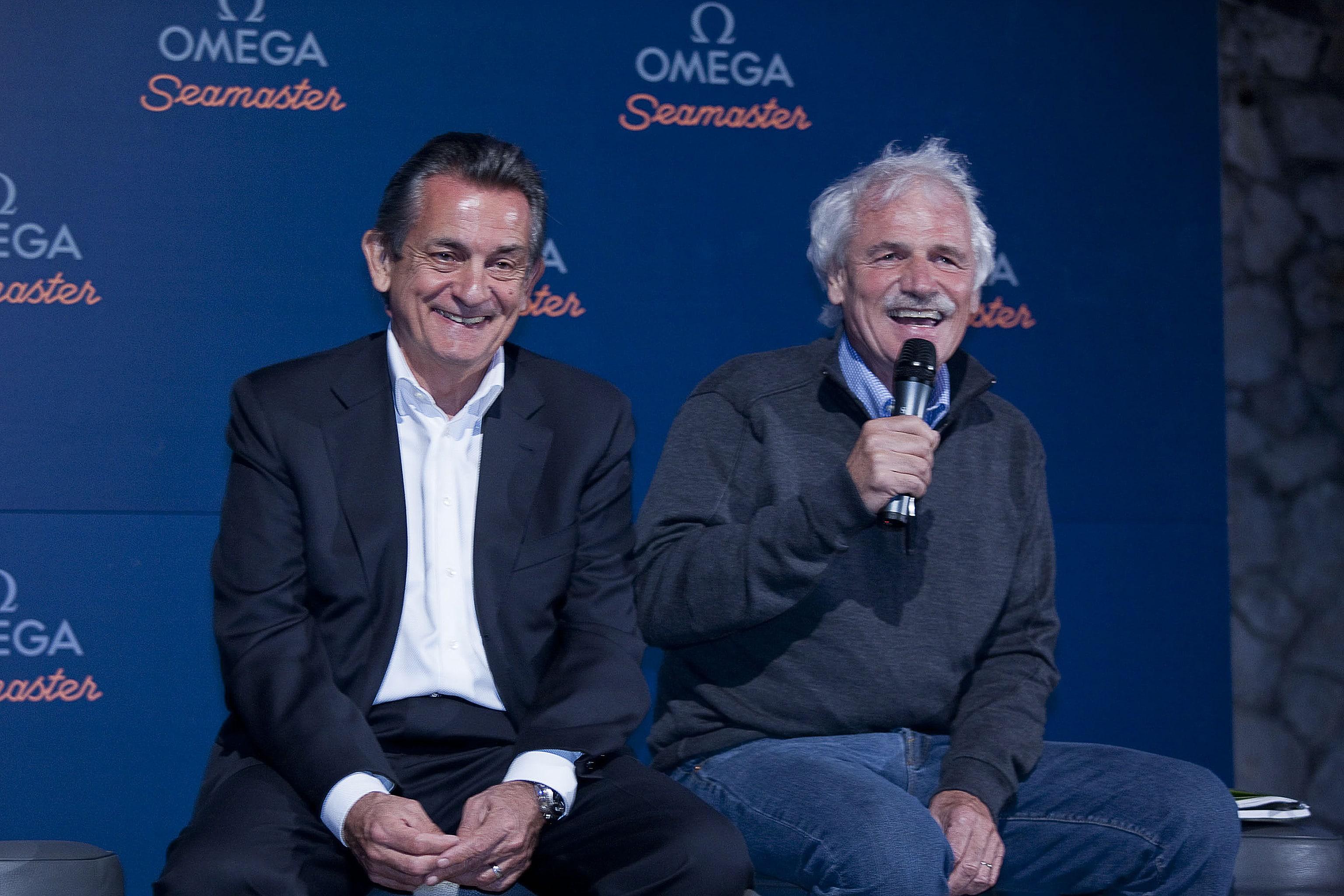 Omega-Präsident Stephen Urquhart und Naturfilmer Yann Arthus-Bertrand geben Partnerschaft bekannt