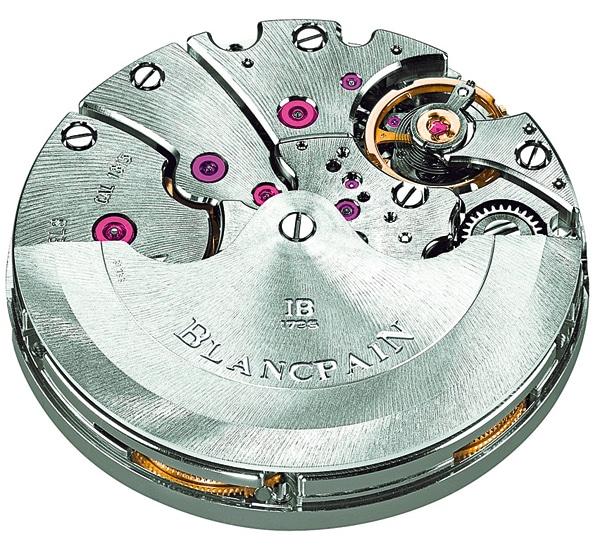 Kaliber 1315: Eigenes Blancpain-Kaliber für robuste Sportuhren: Das Kaliber 1315 mit extragroßen Rubinen und sonnenstrahligem Oberflächen-Finish