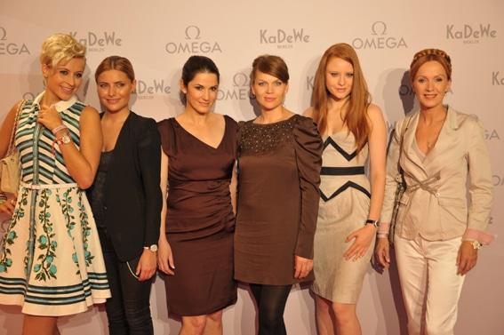 Verena Kerth, Sophia Thomalla, Mariella Ahrens, Anna Loos, Barbara Meier, Katja Flint (v.l.n.r)