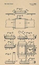 Das Wendeprinzip: Die originale technische Zeichnung aus den 1930er Jahren veranschaulicht den ausgeklügelten Gehäusemechanismus