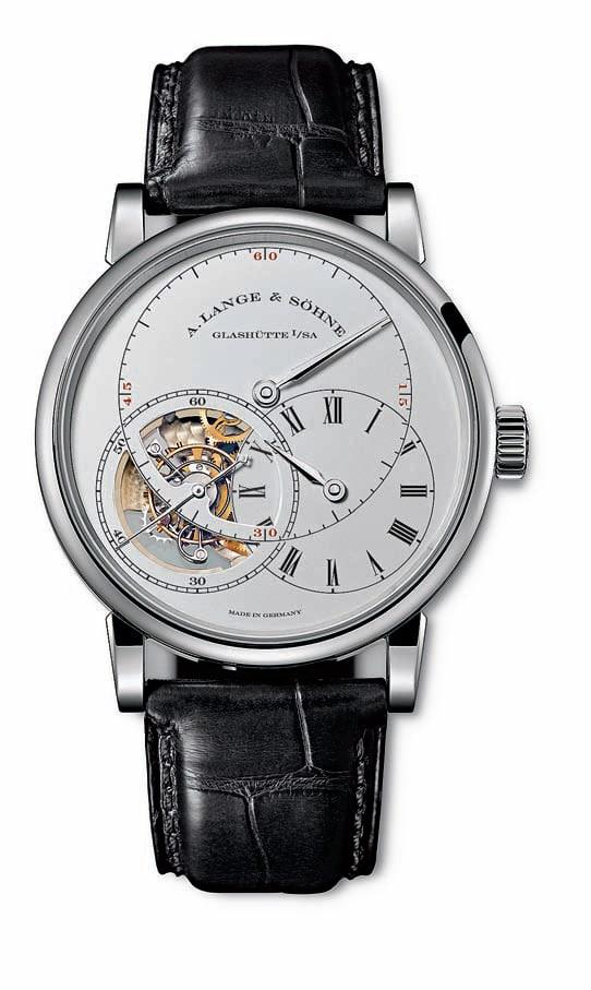 """Das Richard Lange Tourbillon """"Pour le Mérite"""" von A. Lange & Söhne (Platin, 175.000 Euro)"""