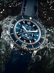 Der blaue Flyback-Chronograph Fifty Fathoms aus dem Jahr 2012
