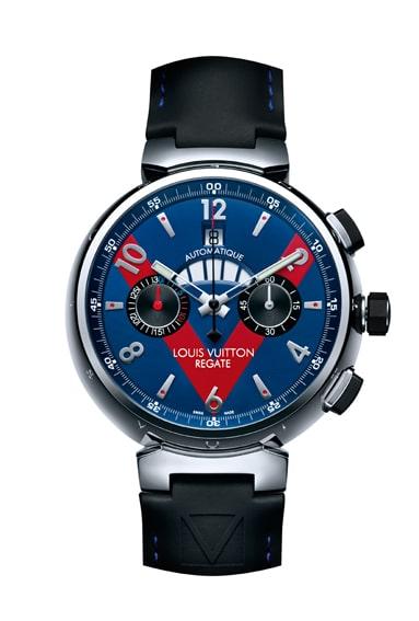 Segel-Uhr: die Tambour Automatic Regatta Navy von Louis Vuitton